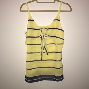 Cabi yellow and navy tank top
